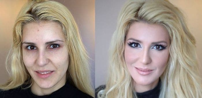 58 With and Without Makeup Pictures of Girls That Will Shock You - 08