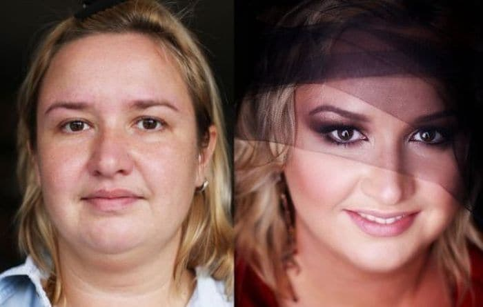 58 With and Without Makeup Pictures of Girls That Will Shock You - 12