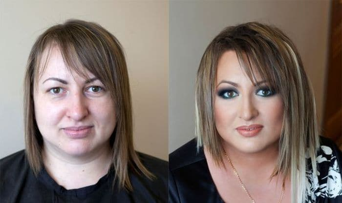 58 With and Without Makeup Pictures of Girls That Will Shock You - 14