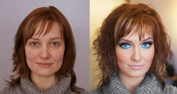58 With and Without Makeup Pictures of Girls That Will Shock You - 15