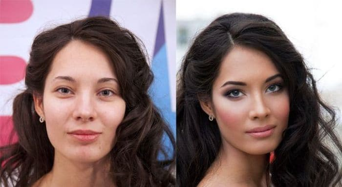 58 With and Without Makeup Pictures of Girls That Will Shock You - 16