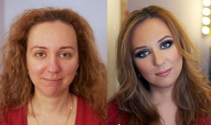 58 With and Without Makeup Pictures of Girls That Will Shock You - 23