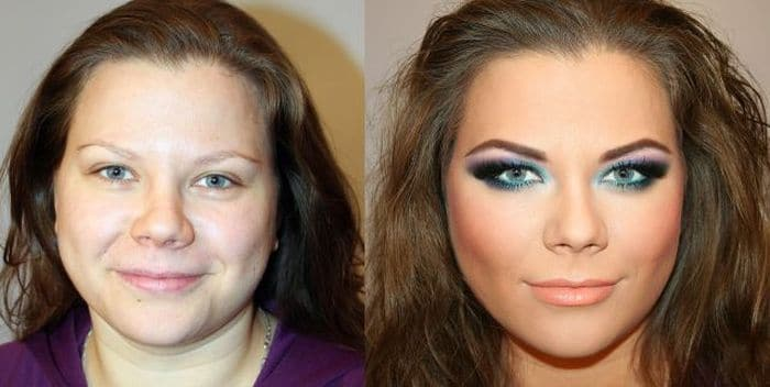 58 With and Without Makeup Pictures of Girls That Will Shock You - 24