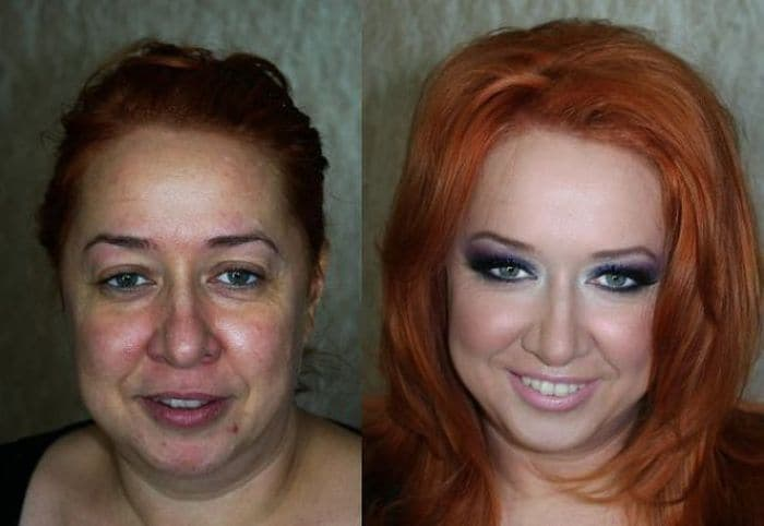 58 With and Without Makeup Pictures of Girls That Will Shock You - 27