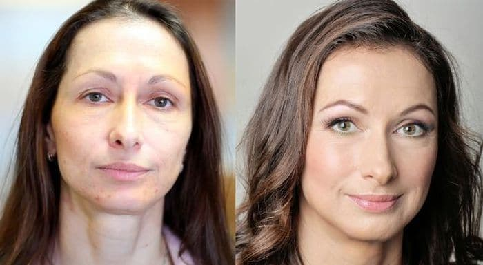 58 With and Without Makeup Pictures of Girls That Will Shock You - 28
