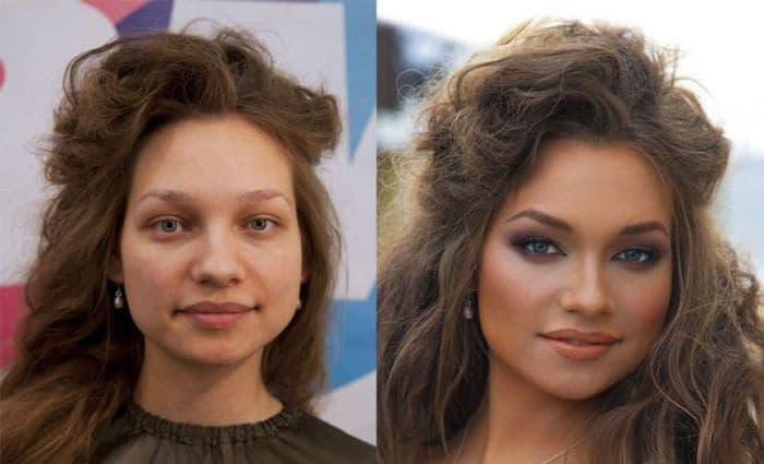 58 With and Without Makeup Pictures of Girls That Will Shock You - 31