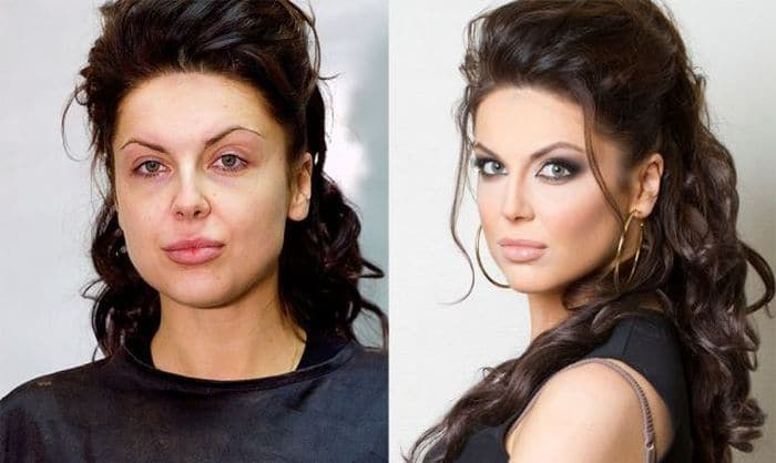 58 With and Without Makeup Pictures of Girls That Will Shock You - 34