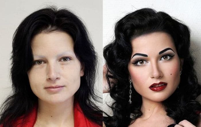 58 With and Without Makeup Pictures of Girls That Will Shock You - 36