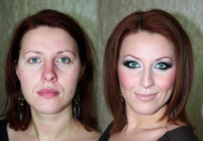 58 With and Without Makeup Pictures of Girls That Will Shock You - 37