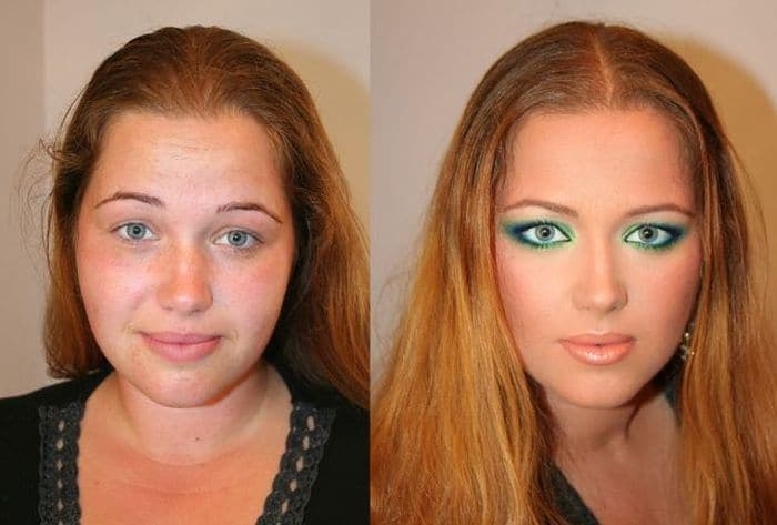 58 With and Without Makeup Pictures of Girls That Will Shock You - 39