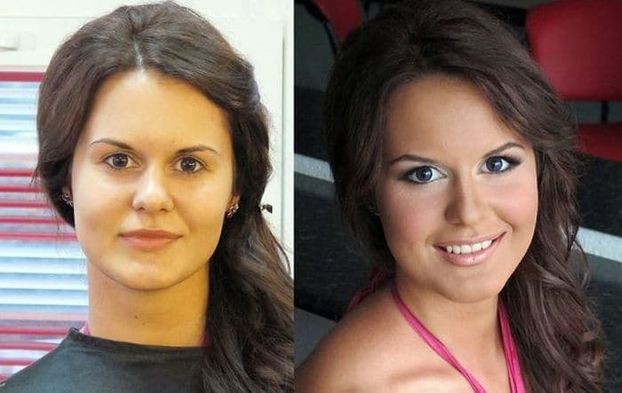58 With and Without Makeup Pictures of Girls That Will Shock You - 43