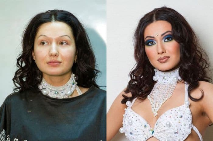 58 With and Without Makeup Pictures of Girls That Will Shock You - 44