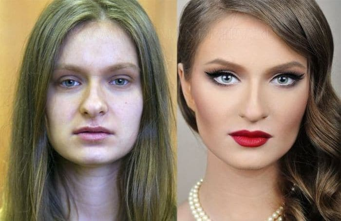 58 With and Without Makeup Pictures of Girls That Will Shock You - 45