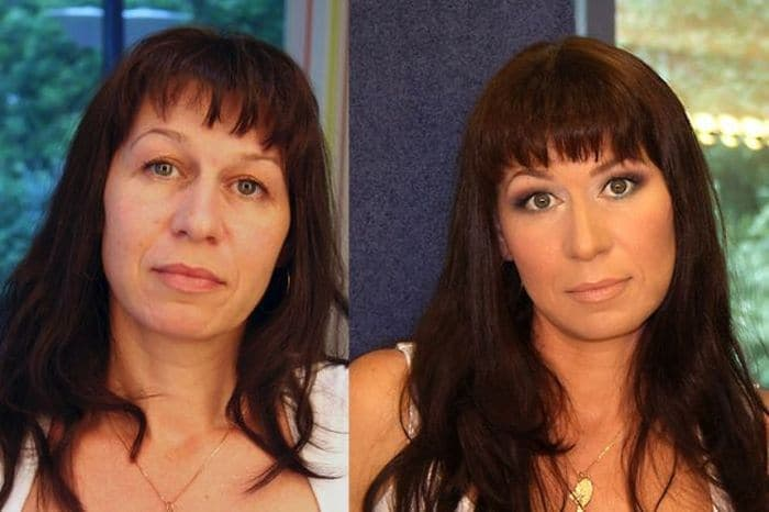 58 With and Without Makeup Pictures of Girls That Will Shock You - 46