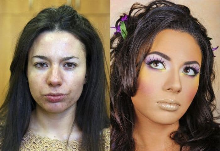58 With and Without Makeup Pictures of Girls That Will Shock You - 52
