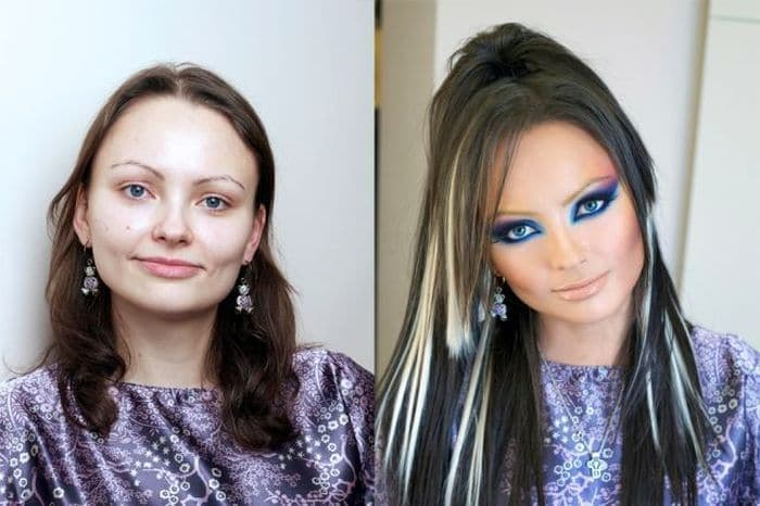58 With and Without Makeup Pictures of Girls That Will Shock You - 53