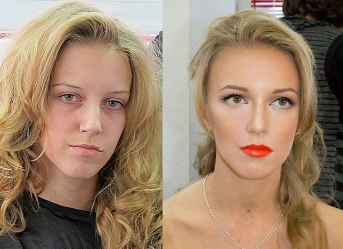 58 With and Without Makeup Pictures of Girls That Will Shock You - 57