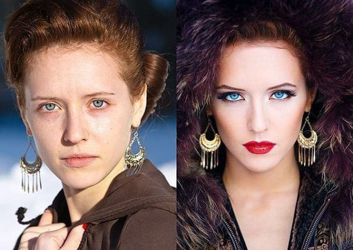58 With and Without Makeup Pictures of Girls That Will Shock You - 58