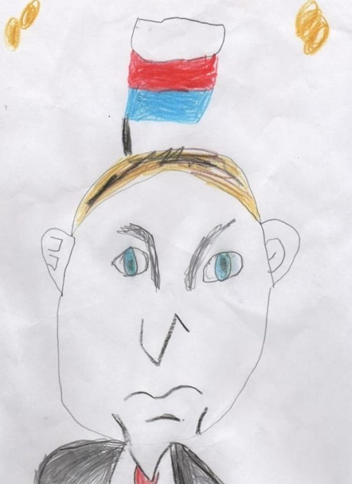 27 Funny Drawings of Putin By Russian Kids Will Make You LOL -02