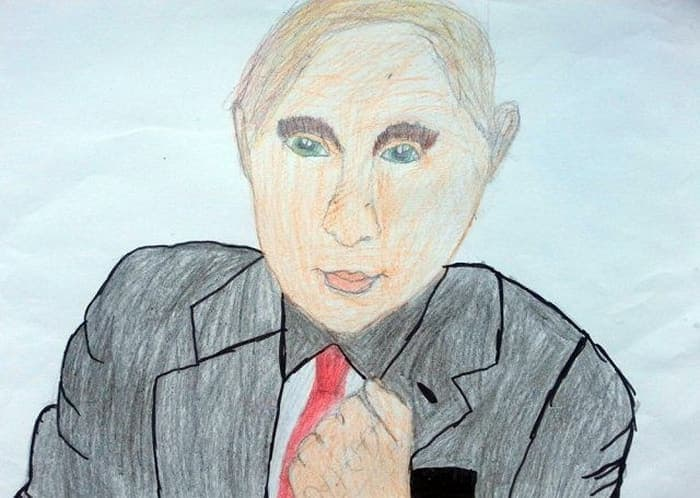 27 Funny Drawings of Putin By Russian Kids Will Make You LOL -12
