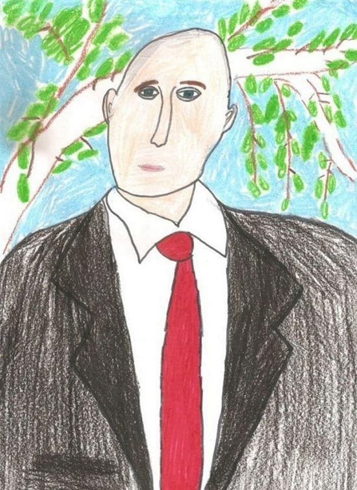 27 Funny Drawings of Putin By Russian Kids Will Make You LOL -25