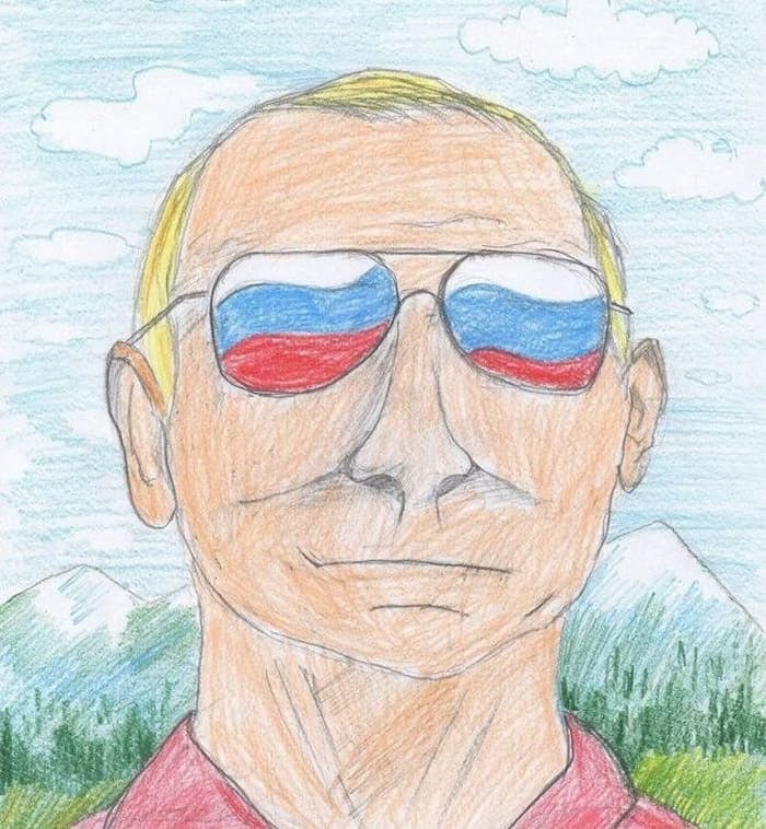 27 Funny Drawings of Putin By Russian Kids Will Make You LOL -26