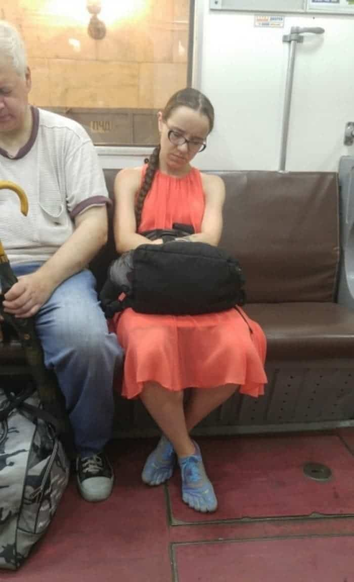 The Weirdest People Ever Found Riding On The Subway -05