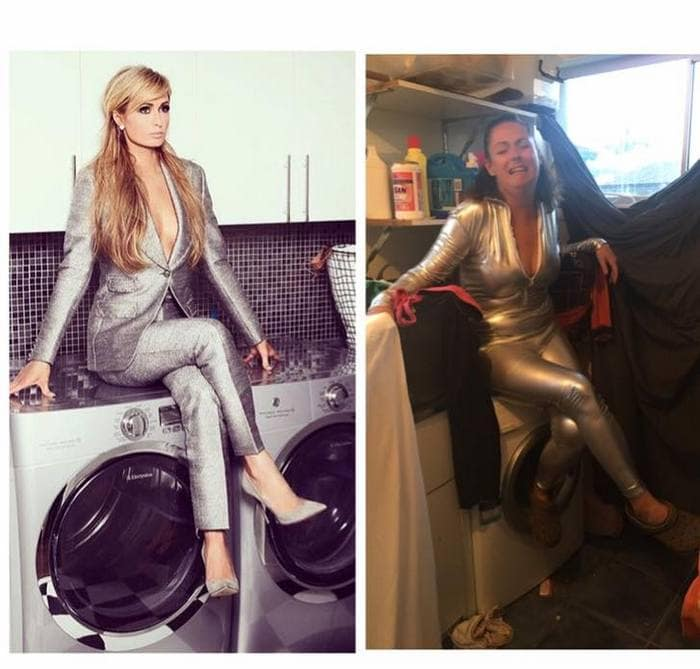 Woman Ridiculously Recreates Celebrity Instagram Photos (49 Pics)-03