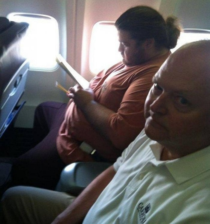 Awkward Airplane Moments That Are Funny And Scary (18 Photos)-12